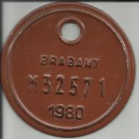 Plaque Vélomoteur Brabant 1980 - Plaques D'immatriculation