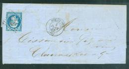 Yvert N°22 SUR LETTRE, Oblitéré GC 532 , Bordeaux , Dpt 33 , 6/01/1863  Ad23235 - Postmark Collection (Covers)
