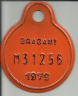 Plaque Vélomoteur Brabant 1979 - Plaques D'immatriculation
