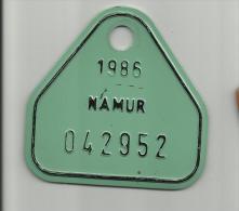 Plaque Vélo Namur 1986 - Plaques D'immatriculation