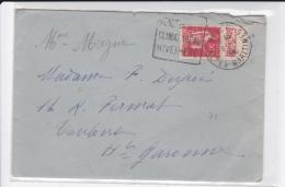 """1934 - ENVELOPPE De VENCE (DAGUIN) Avec PUBLICITE """"BENJAMIN"""" - TYPE PAIX - Advertising"""