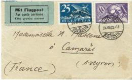 LETTRE DU 24.8.1923. LUZERN.pour . CAMARES .(timbres N° 5+7 ) - Altri Documenti