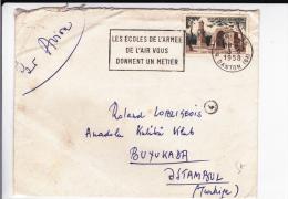 1958 - ENVELOPPE Par AVION De PARIS Pour BUYUKADA ISTAMBUL (TURQUIE) - Marcophilie (Lettres)