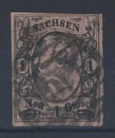 Sachsen Michel No. 9 gestempelt used Nummerngitterstempel 10