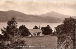 Wales Postcard - Bala Lake And Llanycil Church   8329 - Merionethshire