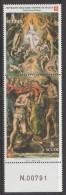 """PIA - SMOM - 2002 : San Giovanni. Particolare Del Dipinto """"Battesimo Di Cristo"""" Di El Greco - (UN 691-92) - Sovrano Militare Ordine Di Malta"""