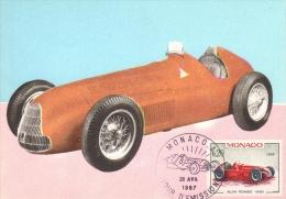 Monaco  -  Premier Jour Maximum Carte  -  Alfa Romeo Grand Prix  -  1950 - Automobile