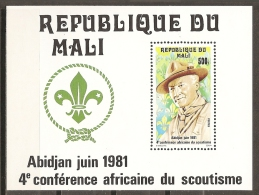 SCOUTS - MALI 1981 - Yvert #H14 - MNH ** - Movimiento Scout