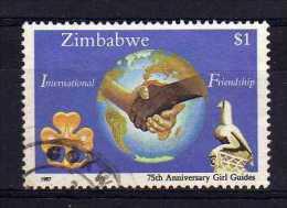Zimbabwe - 1987 - $1 75th Anniversary Of Girl Guides - Used - Zimbabwe (1980-...)