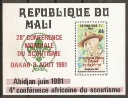 SCOUTS - MALI 1981 - Yvert #H15 - MNH ** - Movimiento Scout