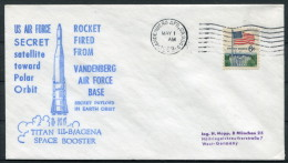 1969 USA Vandenberg TITAN Space Rocket Cover - Covers & Documents