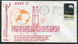1970 USA Vandenberg SERT 2 Space Rocket Cover - United States