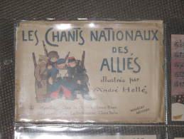 Pochette - Les Chants Nationaux De Alliés - Illustrés - André Hellé - Guerre 1914-18