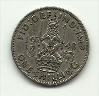 1948 - Gran Bretagna 1 Shilling, - 1902-1971 : Monete Post-Vittoriane