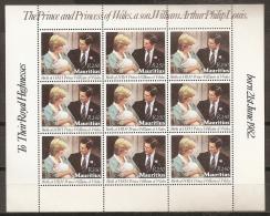FAMILIAS REALES - MAURICIO 1982 - Yvert #560 (Minipliego) - MNH ** - Familias Reales