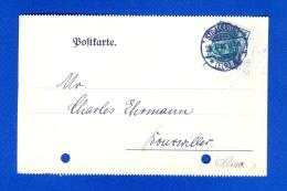 1914  EMPIRE CARTE PERFORER DEUTSCHES REICH STRABBURG /BOUSWILLER / ALSACE 28.1.1914 - Deutschland