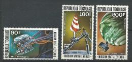 """Togo Aerien YT 345 à 347 (PA 345 à 347) """" Missions Spatiales """" 1978 Neuf ** - Togo (1960-...)"""