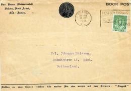 INDIEN 1951, 9Ps Auf Brief Mit Sonderstempel Gel.von Bellore (Süd-Indien) Nach Biel (Schweiz) - 1950-59 Republik