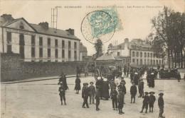 22 GUINGAMP - L ECOLE PRIMAIRE SUPERIEURE - LES POSTES ET TELEGRAPHES ( ATTELAGE - ENFANTS ) - Guingamp
