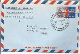 Aérogramme  11 Cent  -  Eravril 1953 - Poste Aérienne