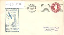 """Entier Postal Repiqué """" N.E TOUR  MAY 29 - 1930 """"  BRDGEPORT - Poste Aérienne"""