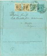 Autriche - (Tchequie) Carte Lettre De Trutnov (Tautenau) Vers Verviers Du 07/05/1893 - Lettres & Documents