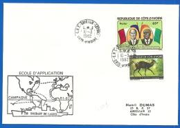 Marine Nationale - CNT ABIDJAN Lettres  (4003) Escale Aviso DOUDART DE LAGREE - Côte D´Ivoire 10 03 1982 - Naval Post