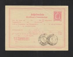 KuK Aufgabeschein Stempel Taufers 1899 Deutsch-italienisch - Ganzsachen