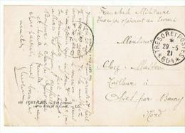 PORT SAID Vue Générale Sur La Ville Et Le Canal  TRESOR ET POSTES  N° 601   29 01 1921 - Militaria