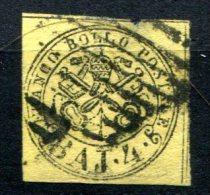 1757 - ITALIEN-KIRCHENSTAAT, Mi.Nr. 5, Gestempelt (oben Mitte Dünn)  - ITALY- PAPAL STATES, Used Stamps (thin Spot) - Kirchenstaaten