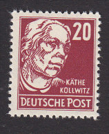 Germany Democratic Republic, Scott #128, Mint Hinged, Kathe Kollwitz, Issued 1953 - DDR