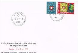 FDC Enveloppe 1er Jour 1ère Conférence Des Minotités Ethniques De Langue Française - FDC