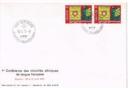 Enveloppe 1er Jour - 1ère Conférence Des Minorités Ethniques De Langue Française - FDC