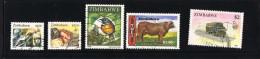 ZIMBABWE   5 Timbres Récents  Utilisés Postalement - Zimbabwe (1980-...)