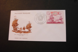 French Polynesia US Bicentennial Day Of Issue Cancel 1976 04s - FDC