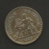 FRANCE 1 PIECE BON POUR 2 FR CHAMBRE DE COMMERCE ET INDUSTRIE DE 1923 - Monetary / Of Necessity