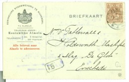 HANDGESCHREVEN BRIEFKAART GELOPEN IN 1922 Van ALMELO Naar ENSCHEDE NVPH NR 63  (7894i) - Periode 1891-1948 (Wilhelmina)