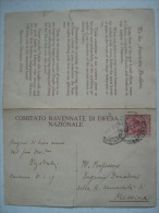 RAVENNA - COMITATO DI DIFESA NAZIONALE 1918 CON POESIA E FIRMA DI DIEGO VALERI  AI FRATELLI AMERICANI - Ravenna