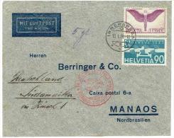 LETTRE Du .13.1.1936 . INNERAROSA . Pour . MANAOS .(Timbres N°12z+18 ) - Altri Documenti