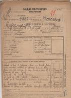 ^ CHERASCO MONDOVI CUNEO COSTAMAGNA FANTERIA GUERRA ITALO TURCA FOGLIO MATRICOLARE DOCUMENTO MILITARE 19 - Documenti Storici