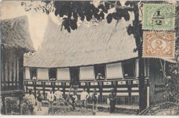 CPA INDONESIE INDONESIA Fort De Kock Maleische Woning Timbres Stamps 1917 - Indonésie