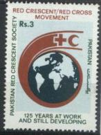 1988 Pakistan - 125th Anniversary Of Red Cross 1v., Globe , Map , Michel 718 MNH - Rode Kruis