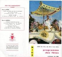CARNAVAL  DE NICE  1969)  TRIPLE VOLET RECTO VERSO -PROGRAMMES , SUPERBE CHAR  ET SA MISS - Carnaval