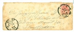 BRIEFOMSLAG NVPH 60  GELOPEN VAN HOORN Naar AMSTERDAM   (7894k) - Periode 1891-1948 (Wilhelmina)