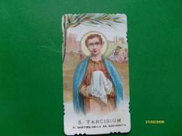 Originale SANTINO Holy Card Epoca 1930 Ca. Policromo S.TARCISIUM Martire Eucarestia - Santini