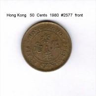 HONG KONG    50  CENTS  1980   (KM # 41) - Hong Kong