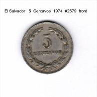 EL SALVADOR    5  CENTAVOS  1974   (KM # 134) - Salvador