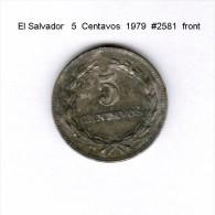 EL SALVADOR    5  CENTAVOS  1977   (KM # 149B) - El Salvador