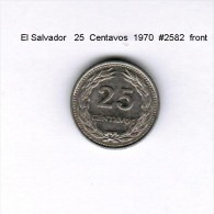 EL SALVADOR    25  CENTAVOS  1970   (KM # 139) - El Salvador