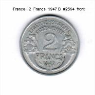 FRANCE    2  FRANCS  1947 B   (KM # 886a.2) - France